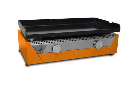 SIMOGAS RAINBOW-ORANGE Stahl-Plancha 70, Gas